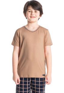Pijama Infantil Masculino Xadrez Curto Loyalty