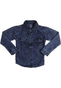 Camisa Manga Longa Infantil Tdv Masculino - Masculino-Azul