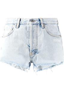 Off-White Short Jeans - Azul