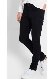 Calça Jeans Masculina Slim Preto