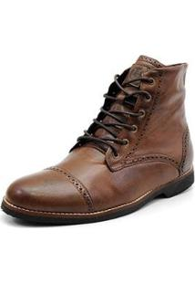 Bota Shoes Grand Detalhe Masculina - Masculino-Marrom