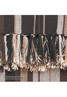 Manta Para Sofá Egípcia- Marrom Escuro Bege- 140X1Artesanal