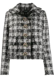 Dolce & Gabbana Jaqueta De Tweed Xadrez - Preto