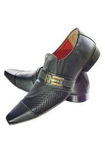 Sapato Masculino Italiano Social Executivo Em Couro Art Sapatos Preto Foursquare
