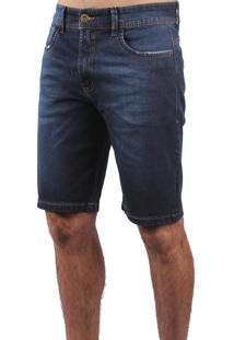 Bermuda Jeans Dioxes Cintura Média Azul