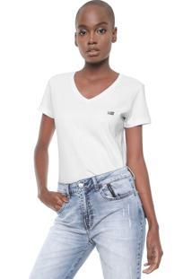 Camiseta Ellus 2Nd Floor Basic Esf Dec Branca