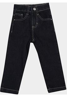 Calça Jeans Infantil Malwee Básica Masculina - Masculino-Preto