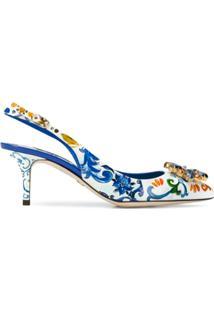 Dolce & Gabbana Sapato De Couro Floral - Estampado