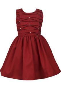 Vestido Katitus Infantil Liso Vermelho