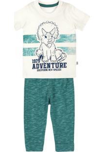 Conjunto Infantil Bebê Menino Com Camiseta E Calça Puc