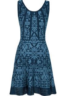 Vestido Tricô Le Lis Blanc Felipa - Azul