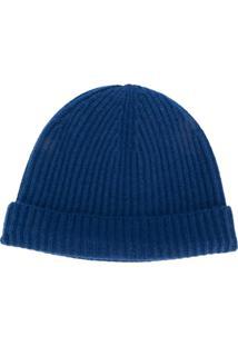 N.Peal Gorro Canelado - Azul
