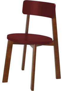 Cadeira Lina Cor Cacau Com Vinho - 31536 - Sun House