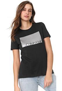 Camiseta Calvin Klein Foil Preta