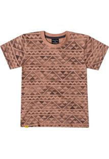 8d88aee8ed Camiseta Para Meninos Marrom Poliester infantil