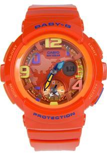 Relógio Feminino Casio G-Shock Baby-G Analógico Digital Bga-190-4Bdr Laranja