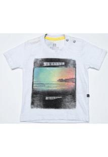 Camiseta Infantil Banana Danger Flame Sunrise Masculina - Masculino-Branco