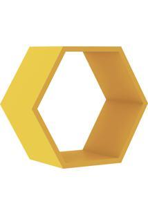 Nicho Hexagonal 400X346X180 Mm Amarelo Movelbento