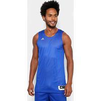 Regata Adidas Treino Reversível Dupla Face Masculina - Masculino-Azul+Branco ac6b8ad874b