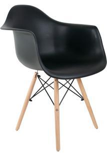Cadeira Charles Eames Com Braço I Preta