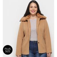 c13af215a Casaco Queen'S Lã Batida Plus Size Feminino - Feminino