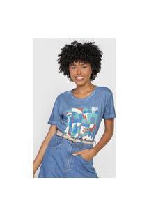 Camiseta Cantão Azulejo Azul