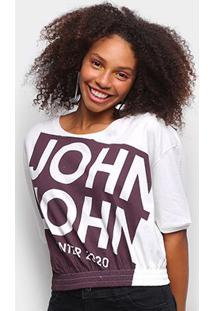 Camiseta John John Barra Elástica Feminina - Feminino
