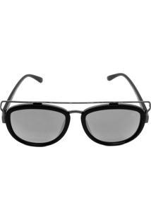Óculos De Sol Khatto Kt9272 Preto Lente Prata