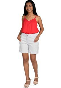 Camiseta Pirony Vermelha Com Alça Regulável Ref. 116216-3