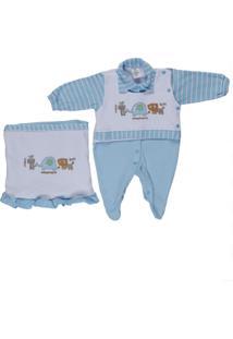 Enxoval Infantil Bloomy'S Branco/Azul