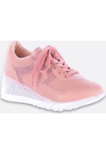Tênis Feminino Chunky Sneaker Recorte Glitter Zatz