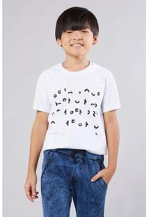 Camiseta Mini Sm Codigo Rqb Reserva Mini Masculina - Masculino-Branco