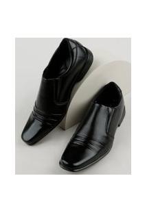 Sapato Social Masculino Oneself Bico Quadrado Preto