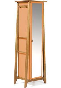 Armario Multiuso Stoka Cor Amendoa Com Laranja - 31597 - Sun House