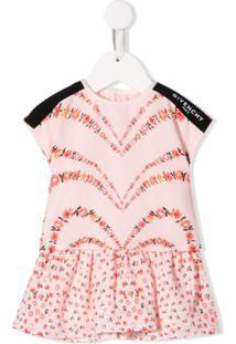 Givenchy Kids Vestido Floral - Rosa