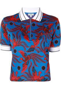 Kenzo Camisa Polo 'Flying Phoenix' - Azul