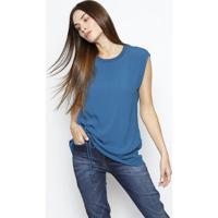 f8a21c3cd Blusa Lisa Com Franzidos- Azul Escuro- Colccicolcci
