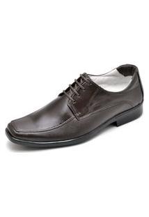 Sapato Social Confort Antistress Couro Ranster Marrom