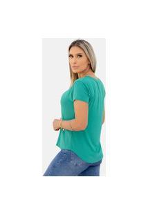 Camiseta Básica Gola V Comfy One