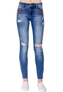 Calça Jeans Skinny Fatima Bordada Colcci