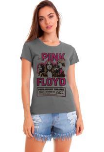 Camiseta Estonada Joss Estampada Pink Floyd Chumbo