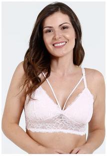 Sutiã Feminino Top Tiras Strappy Renda Marisa