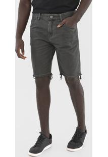 Bermuda Jeans John John Reta Bolsos Cinza - Kanui