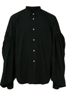 Comme Des Garçons Homme Plus Camisa Oversized Mangas Longas - Preto
