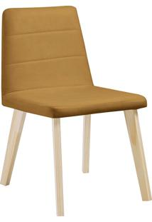 Cadeira Caju F58-1 Veludo – Daf Mobiliário - Dourado