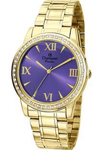 Relógio Champion Analógico Ch24679D Feminino - Unissex-Dourado