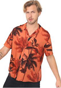 Camisa John John Reta Tropical Laranja