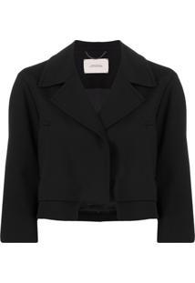 Dorothee Schumacher Emotional Essence Cropped Jacket - Preto