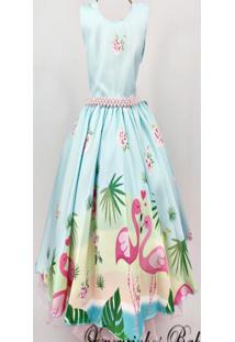 Vestido De Festa Infantil Flamingo 4 Ao 16