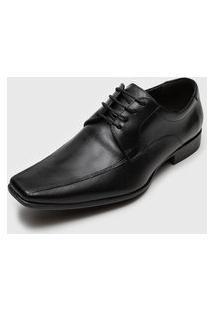 Sapato Social Democrata Clean Preto